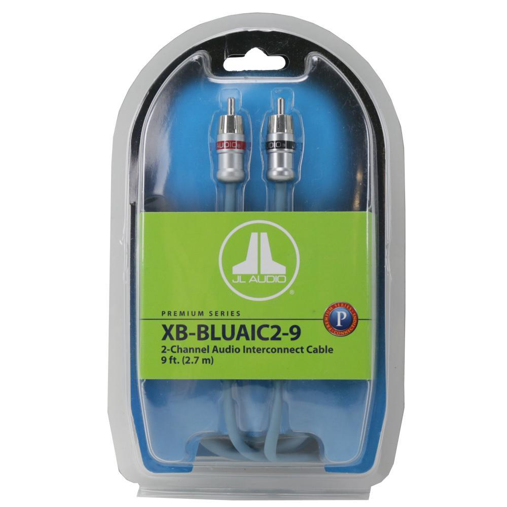 JL Audio 2-ch Twisted-Pair Audio Interconnect w/ Machined Connectors - 9 ft. / 2.74 m XB-BLUAIC2-9 (SKU # 91632) (Master Pack Quantity : 4pcs)