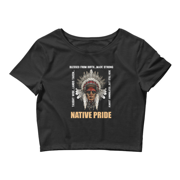 Native Pride Women's Crop Tee - LAMASSU-GLOBALS