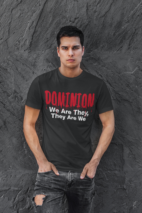 DOMINION With Blood Drops Unisex T-shirt - LAMASSU-GLOBALS