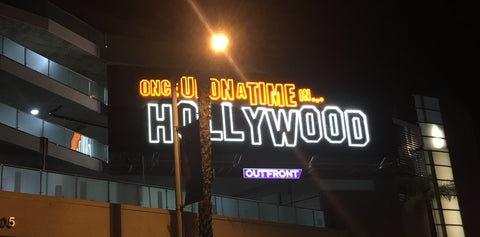 Once Upon A Time In Hollywood billboard on the Sunset Strip