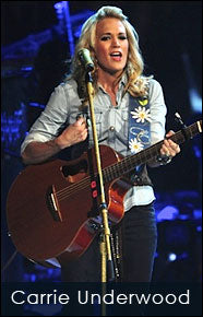 Carrie Underwood and her custom shop Red Monkey vegan strap