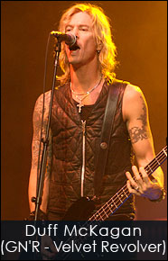 Duff McKagan of G N' R and Velvet Revolver shredding with his Red Monkey