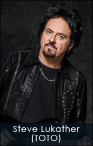 Steve Lukather of TOTO and his custom shop Red Monkey guitar strap