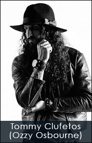 Tommy Clufetos of Ozzy Osbourne with his watch and custom belt by Red Monkey Designs