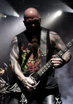Kerry King of Slayer with his custom Red Monkey Guitar Strap