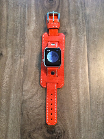 "Apple ""1990"" Cuff watch band (Orange)"