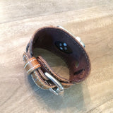 Leather cuff for Apple Watch and all series I watches.