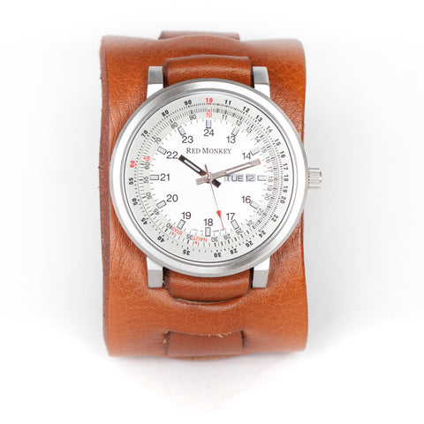 Cool leather cuff watch as seen in Once Upon A Time In Hollywood