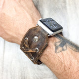 "Apple ""X-STRAP"" Wolverine watch band (Chocolate Distressed)"