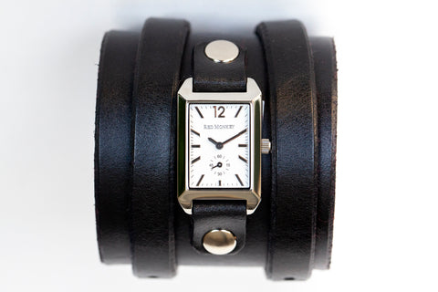 Ladies Double Dragon two strap leather cuff as seen in Girl With The Dragon Tattoo