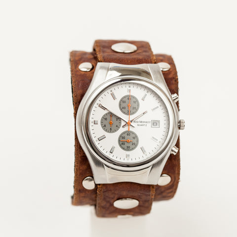 Ladies Diamonds & Rust Chronograph