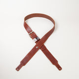 Leather guitar strap in Cognac color by Red Monkey