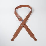 Tobacco colored leather guitar strap by Red Monkey Designs