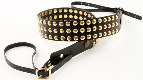 Classic Triple Row Camera Strap - Gold Studs