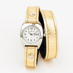 Ladies Gold Double Wrap Bullet