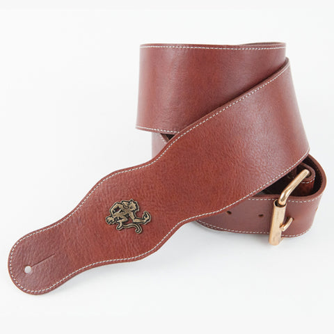 Snake head leather guitar strap