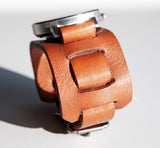 Leather Flip Through watch band worn by Cliff Booth