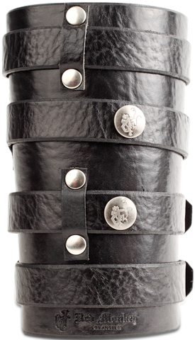Leather cuff with four straps as worn by Zakk Wylde of BLS.
