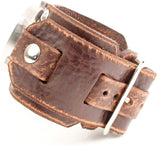 1960's style watch band by Red Monkey Designs.  Heavy duty distressed leather watchband.