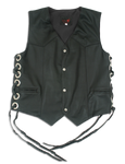 Black leather vest as worn by Zakk Wylde of BLS | Black Label Society