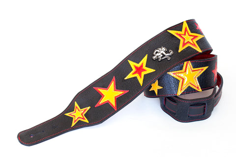 Starchild leather guitar strap by Red Monkey Custom Shop