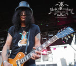 Slash at the Sunset Strip music festival hanging his Gibson Les Paul by his Red Monkey guitar strap.  Photo credit by Torry Pendergrass