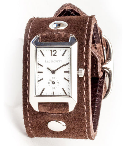 Ladies Brown Suede Crawford (White Dial)