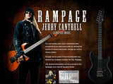 Rampage G&L signature guitar for Jerry Cantrell featuring is Red Monkey guitar strap