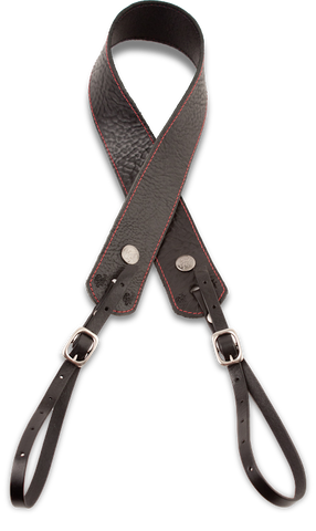 Camera Strap - Black w/ Red Stitch