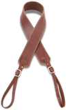 Camera Strap - Walnut w/ White Stitch