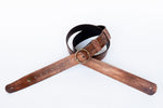 Vintage leather guitar strap with vintage buckle