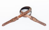 Relic leather guitar strap in distressed leather