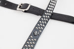 This thin leather studded guitar strap is the perfect