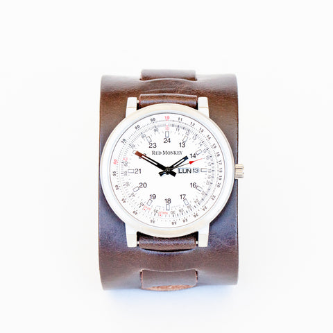 Cliff Booth watch in Espresso Leather