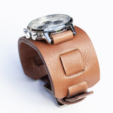 Cliff Booth leather watchband by Red Monkey as worn by Brad Pitt in Once Upon A Time In Hollywood.