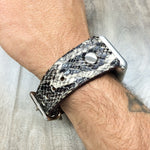 Leather Python looking Apple Watch band