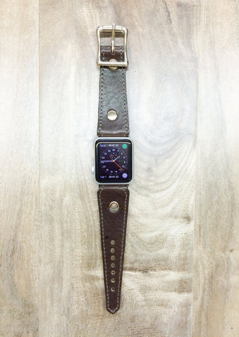 Red Monkey Leather Apple Watch band (Chocolate)