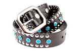 Circus Collection Belt - Black & Turquoise