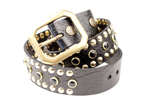 Circus Collection Belt - Black & Gold