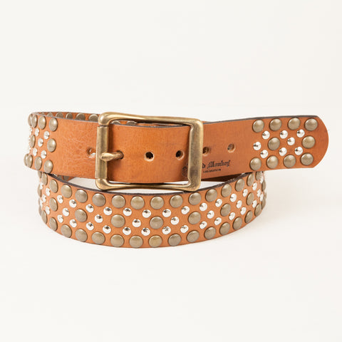 EASY RIDER TWO TONE STUDDED LEATHER BELT