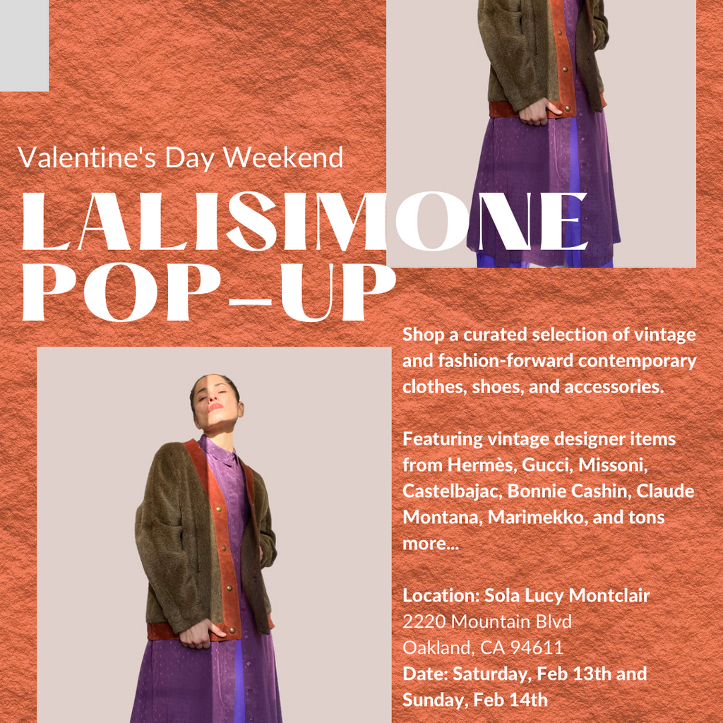 lalisimone vintage pop up at sola lucy oakland on valentine's day 2021