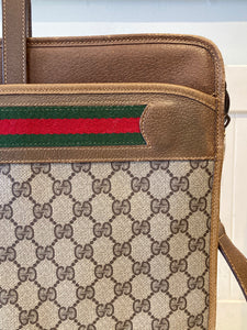 Vintage GUCCI Leather Ophidia Stripe Crossbody Messenger Purse