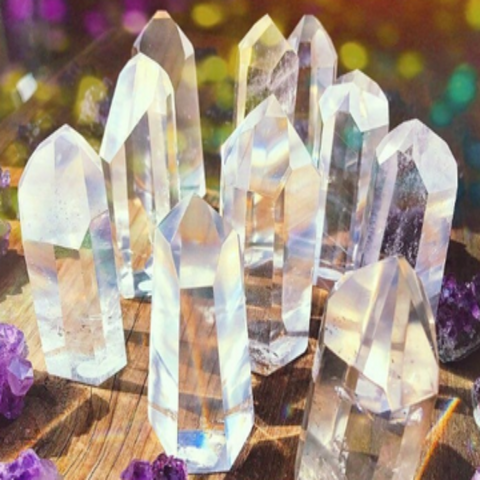 Clear Crystal Quartz A+Standing Point w/ Reiki - Chakra Healing Store