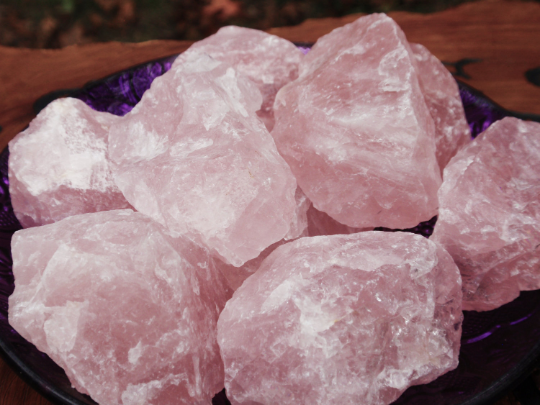 Large Rose Quartz RAW Pink Crystal Chunks - Chakra Healing Store