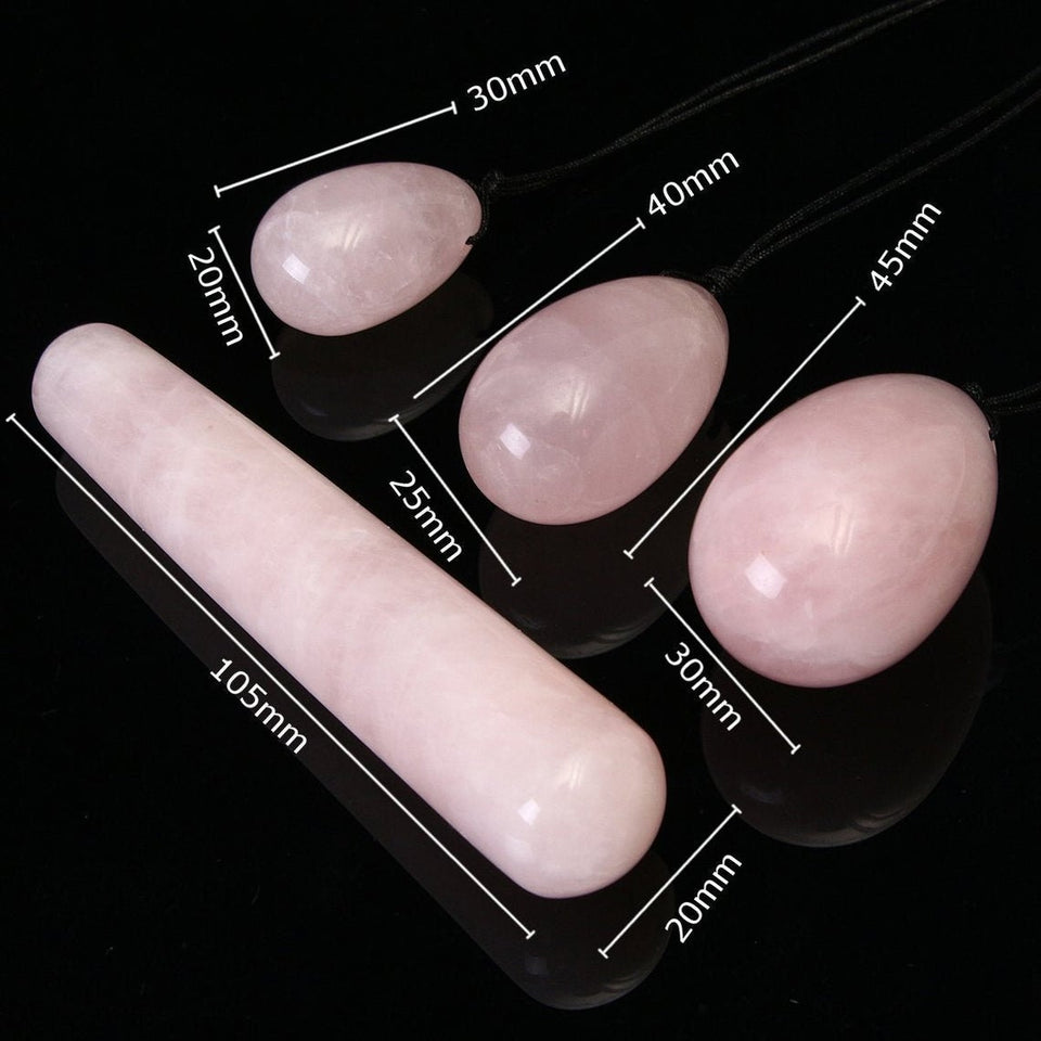 Adult Toys for Women, Rose Quartz Yoni and Egg Set infused w/ Reiki