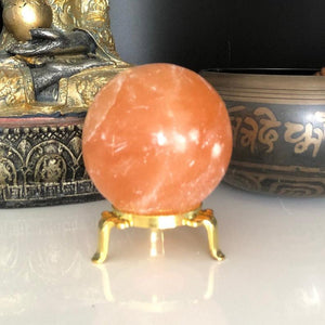 70mm Orange Selenite Crystal Sphere