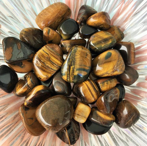 Tigers Eye Polished Tumbled Stones set of 10