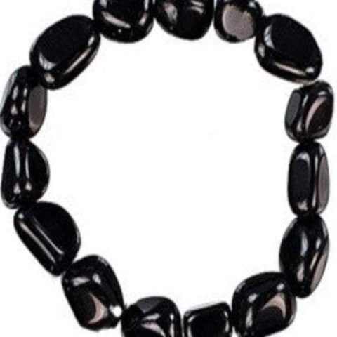 Black Obsidian Bracelet Large Beads