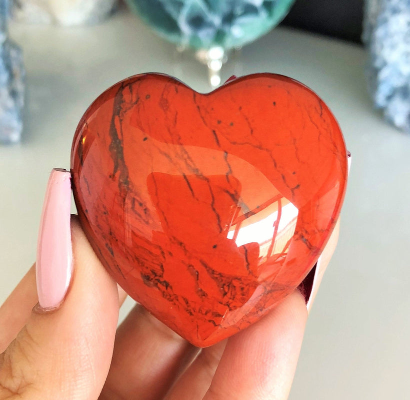 Jasper Crystal Heart