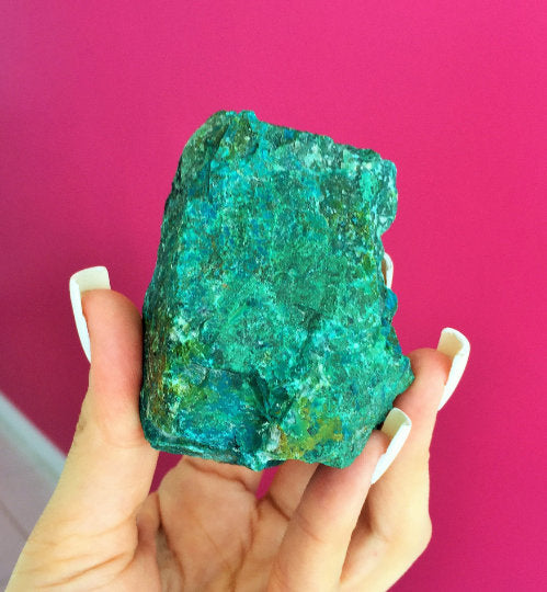 Raw Chrysocolla Stone, Healing Crystals and Stones, Meditation Altar and Witchcraft Home Decoration
